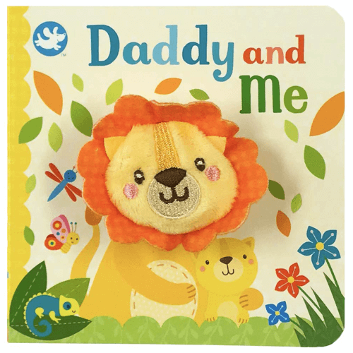 an image of a daddy and me finger puppet board book