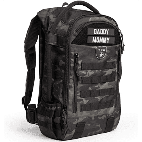 an image of a tactical baby gear daypack - one of our suggestions of soon to be dad gifts