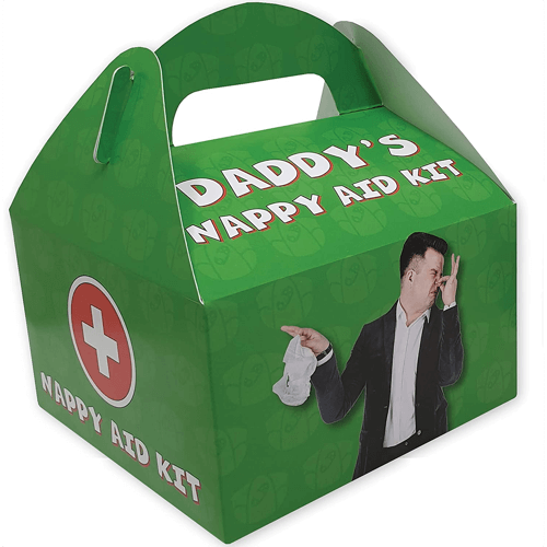 an image of a funny novelty nappy aid kit for dads
