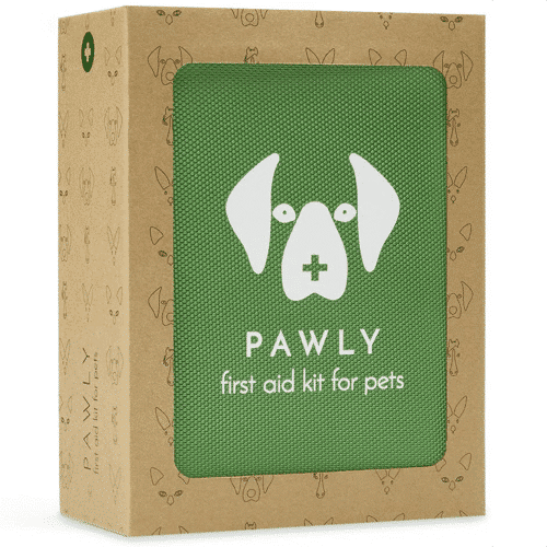 an image of a pet first aid kit- one of our ideas of useful gifts for dog walkers