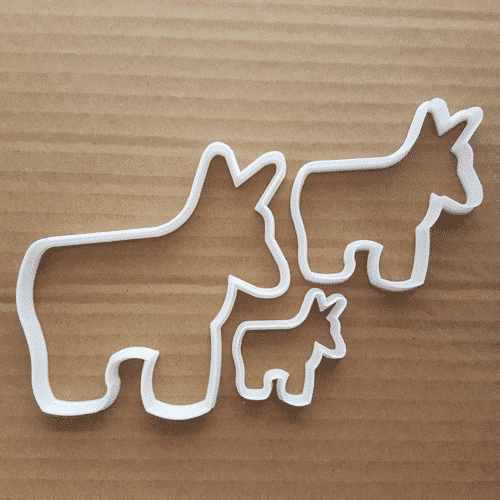 an image of donkey cookie cutters