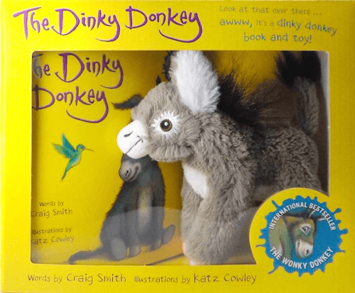 an image of the dinky donkey book and toy