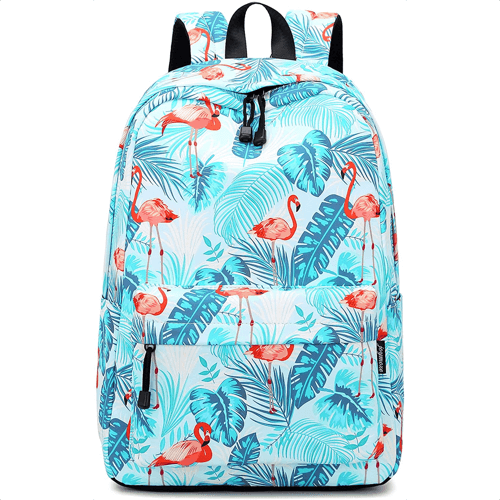 an image of a flamingo backpack for children