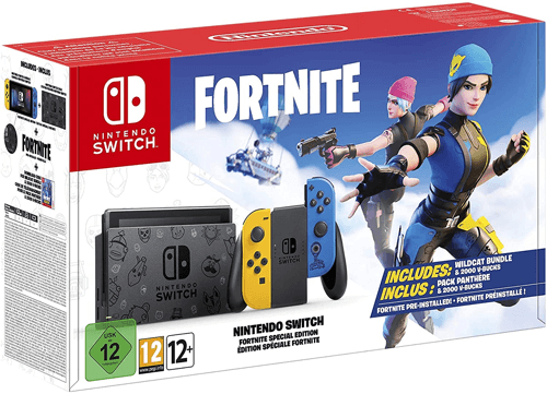an image of a fortnite edition of the nintendo switch