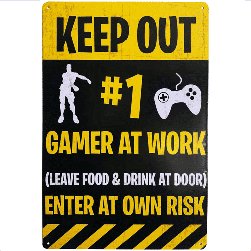an image of a novelty door sign for gamers
