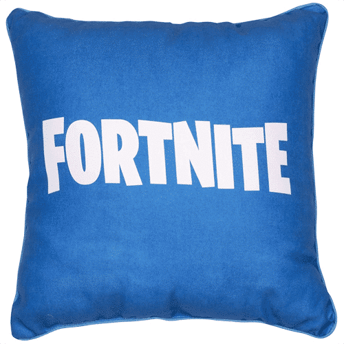 an image of a square fortnite cushion pillow