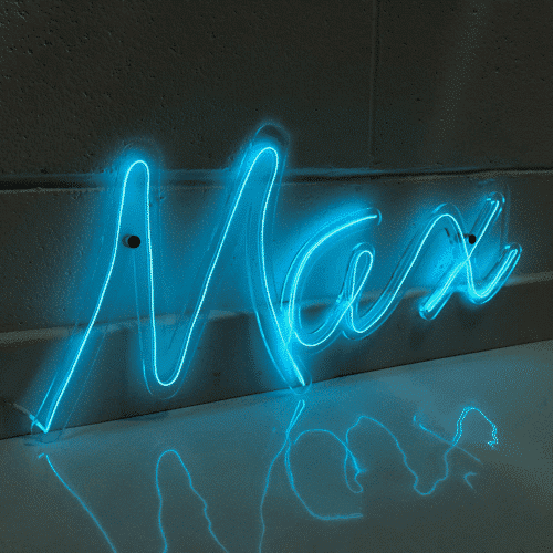 an image of a personalised neon name sign