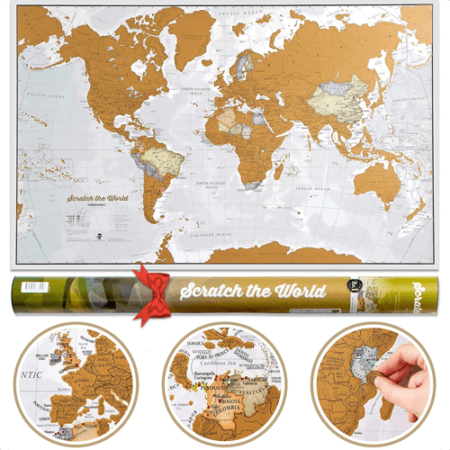 an image of a scratch the world travel map