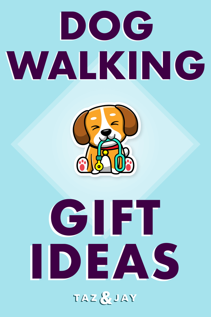 gifts for dog walkers pinterest pin image