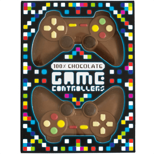 an image of milk chocolate games controllers