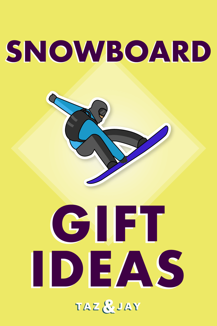 gifts for snowboarders pinterest pin image