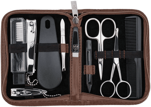 an image of a ten piece male grooming kit