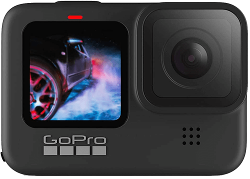 an image of the gopro hero 9 black waterproof action camera - one of our suggestions of snowboarding gifts for him