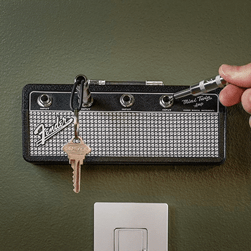 an image of an officially licensed fender key holder - one of the essential gifts for guitar lovers