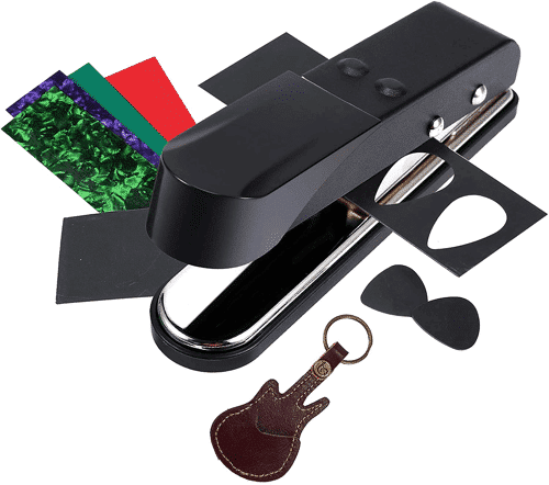 an image of a guitar pick punch - one of our picks of guitar themed gifts