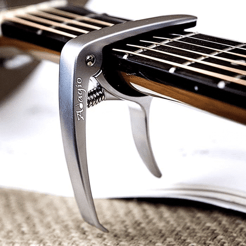 an image of a quick release guitar capo - one of our ideas of guitar presents