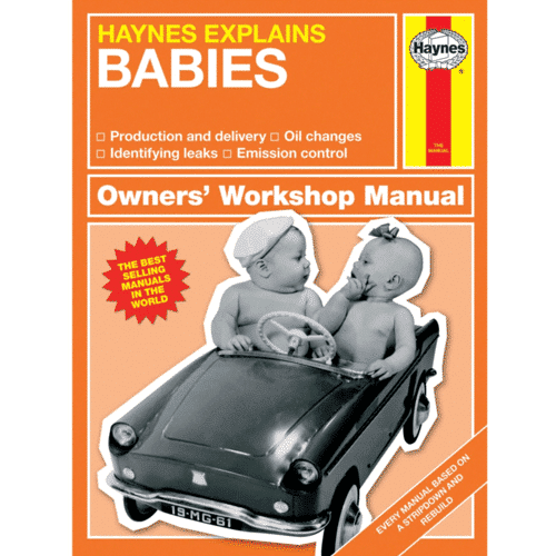 an image of the haynes explains baby book - our pick of one of the best gifts for dads to be
