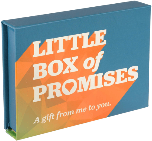 an image of a little box of promises - one of our ideas of cute valentines day gifts for boyfriend