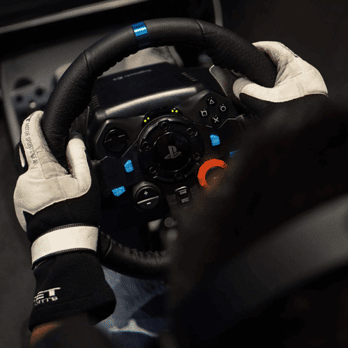 an image of the logitech g29 racing wheel and floor pedals