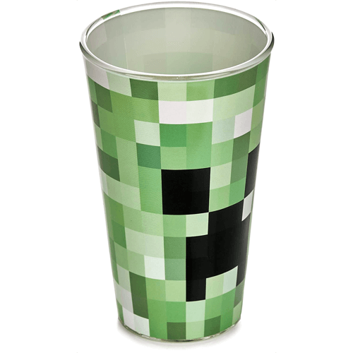 an image of a creeper drinking glass