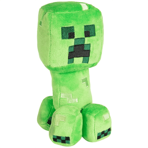 an image of a minecraft creeper plush toy
