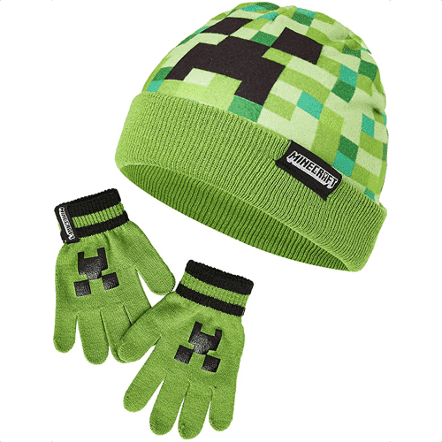 an image of a gaming inspired hat and gloves set