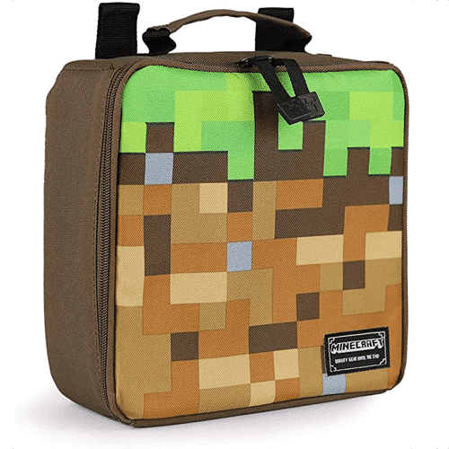 an image of a minecraft lunch box - one of our suggestions for minecraft gifts