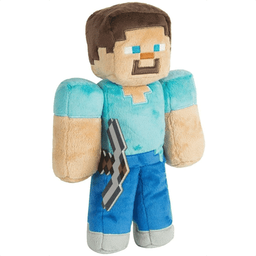 an image of a steve plush toy
