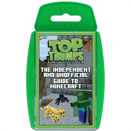 an image of a minecraft top trumps card game
