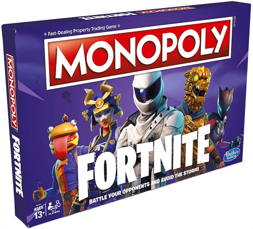 an image of a special fortnite edition of monopoly