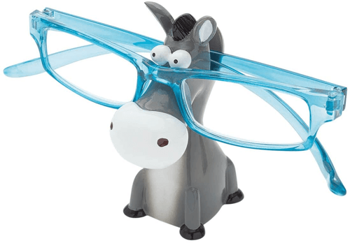 an image of a novelty donkey ornament glasses holder