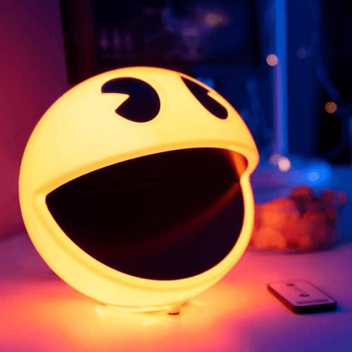 an image of a pac-man lamp