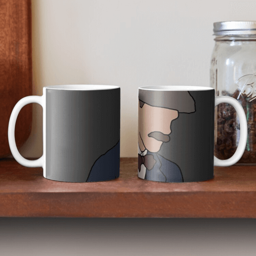 an image of an Arthur Shelby peaky blinders mug - one of our suggestions of peaky blinder gifts