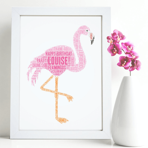 an image of a personalised bird-themed word print