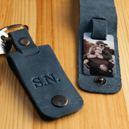 an image of a personalised engraved picture keychain