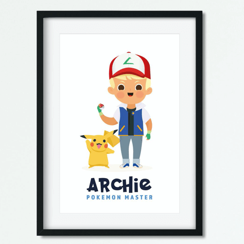 an image of a personalised pokemon poster