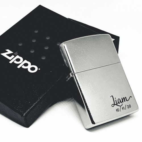 an image of a custom engraved zippo lighter
