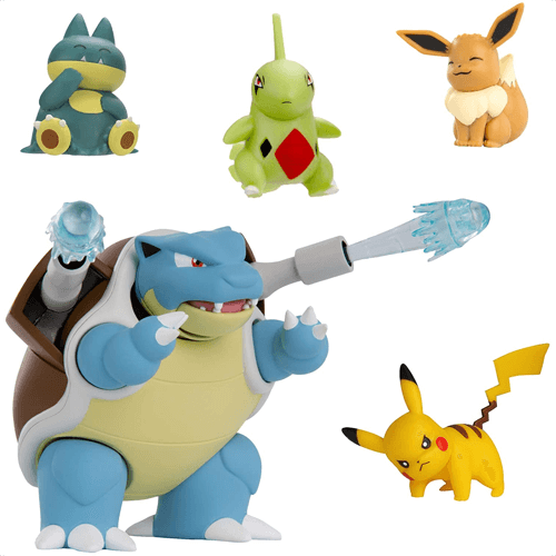 an image of a pokemon multi-pack of five action figures