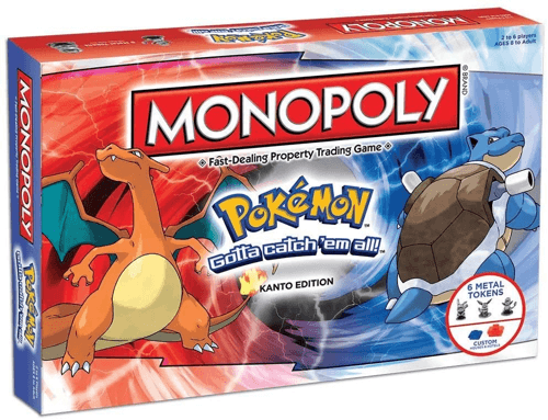 an image of a pokemon edition monopoly board game