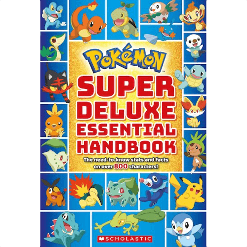 an image of the pokemon super deluxe essential handbook