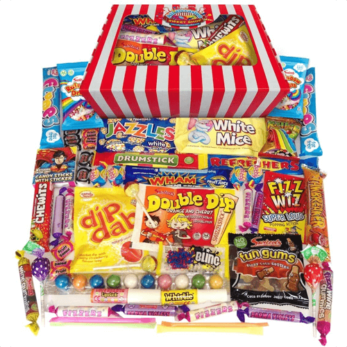 an image of a retro sweets gift box