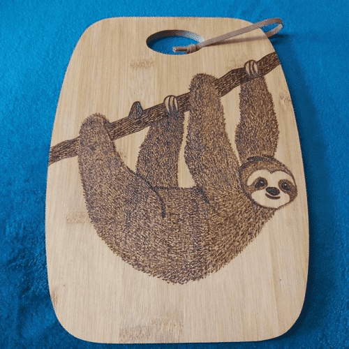 an image of an animal themed wooden chopping board