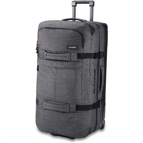 an image of the dakine split roller travel luggage - one of our suggestions for gifts for snowboarders