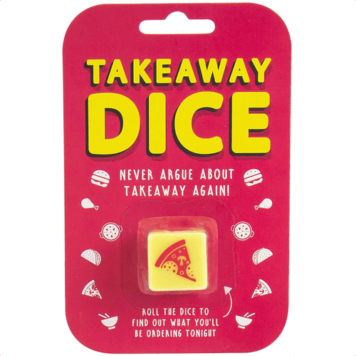 an image of takeaway dice - one of our ideas of cute small gifts for boyfriends