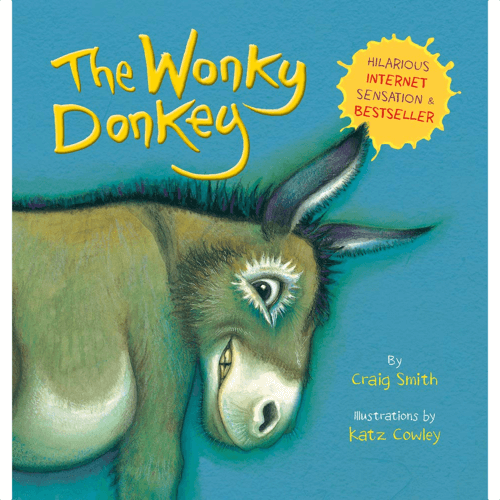 an image of a book for children called the wonky donkey