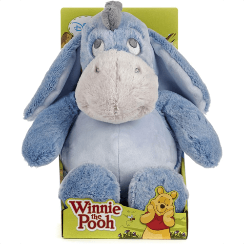 an image of a winnie the pooh snuggletime eeyore soft toy