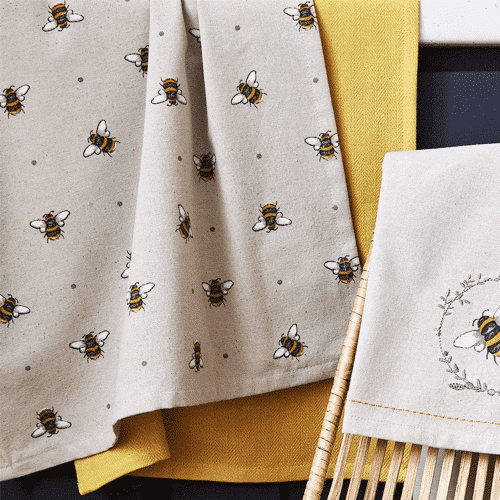 an image of a three pack of themed tea towels