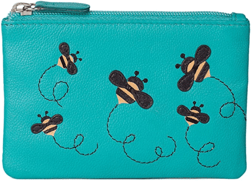 an image of a bumble bee coin purse - one of our ideas of bee gifts for her