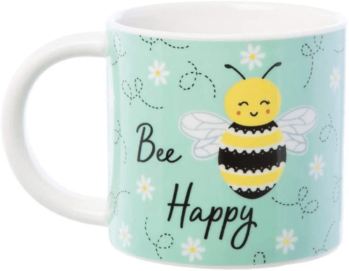 an image of a bee happy mug - one of our bee gift ideas
