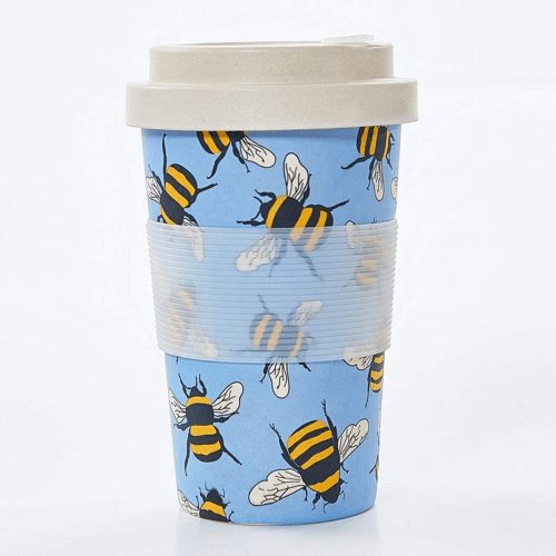 an image of a reusable bamboo travel cup